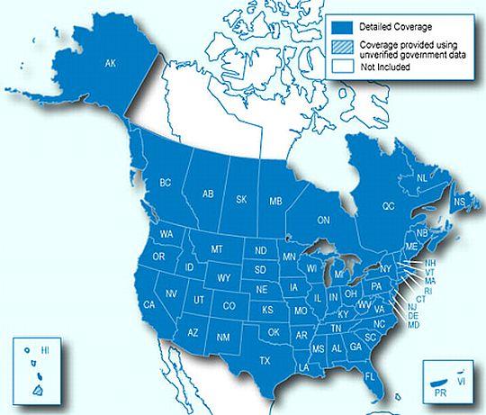 מפות צפון אמריקה GARMIN City
